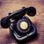 oude · zwarte · telefoon · stof · geïsoleerd - stockfoto © jarin13