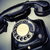 oude · zwarte · telefoon · stof · witte · geïsoleerd - stockfoto © jarin13