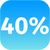 percentage · teken · 40 · procent · Rood · witte - stockfoto © jarin13