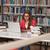kütüphane · güzel · kadın · öğrenci · dizüstü · bilgisayar · kitaplar - stok fotoğraf © jasminko