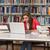 школу · библиотека · счастливым · студент · ноутбука · женщины - Сток-фото © jasminko