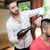 hairdresser blow dry mans hair in shop stock photo © jasminko