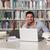 öğrenci · dizüstü · bilgisayar · kullanıyorsanız · sınıf · erkek · kadın · adam - stok fotoğraf © jasminko