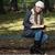 mujer · hermosa · lectura · libro · forestales · naturaleza · feliz - foto stock © jasminko