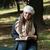 fiatal · nő · olvas · könyv · park · portré · káprázatos - stock fotó © Jasminko