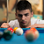 portret · jonge · man · concentratie · bal · man · sport - stockfoto © Jasminko