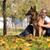 взрослый · человека · сидят · улице · пастух · собака - Сток-фото © jasminko