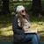 schöne · Frau · Lesung · Buch · Wald · Natur · glücklich - stock foto © jasminko