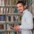 genç · öğrenci · dizüstü · bilgisayar · kullanıyorsanız · kütüphane · yakışıklı · erkek - stok fotoğraf © jasminko