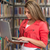 happy female student with laptop in library stock photo © jasminko