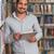 mutlu · erkek · öğrenci · çalışma · dizüstü · bilgisayar · kütüphane - stok fotoğraf © Jasminko