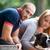 собака · любви · сидят · скамейке · французский · бульдог - Сток-фото © jasminko