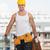 trabajador · de · la · construcción · ladrillo · trabajador · artes - foto stock © Jasminko