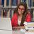 dość · kobiet · student · laptop · książek · pracy - zdjęcia stock © jasminko