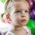 kislány · buli · néz · boldog · szemek · kék - stock fotó © javiercorrea15