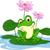 funny green frog cartoon sitting on a leaf stock photo © jawa123