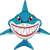 angry shark cartoon stock photo © jawa123