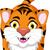 тигр · талисман · характер · черно · белые · иллюстрация - Сток-фото © jawa123
