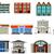 various buildings cartoon for you design stock photo © jawa123