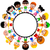 circle of happy children of different races for your design stock photo © jawa123