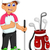 funny man cartoon playing golf thumb up stock photo © jawa123