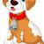 funny puppy cartoon sitting stock photo © jawa123