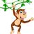 engraçado · dança · macaco · desenho · animado · árvore · bebê - foto stock © jawa123