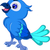 Cute · синий · птица · Cartoon · позируют · природы - Сток-фото © jawa123