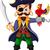 armado · pirata · ilustração · pistola · seis · pessoa - foto stock © jawa123