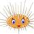 cute sea urchin smiling stock photo © jawa123