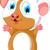 happy fat hamster cartoon posing stock photo © jawa123