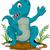 funny tyrannosaurus cartoon posing stock photo © jawa123