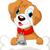 funny puppy cartoon holding bone stock photo © jawa123