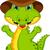 engraçado · crocodilo · desenho · animado · posando · feliz · verde - foto stock © jawa123