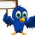 blu · uccello · banner · illustrazione - foto d'archivio © jawa123