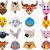 farm animal head cartoon collection stock photo © jawa123