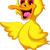 cute baby duck cartoon stock photo © jawa123