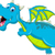 blue dragon cartoon flying stock photo © jawa123