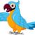bonitinho · papagaio · desenho · animado · posando · olhos · laranja - foto stock © jawa123