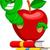 desenho · animado · maçã · bicho · projeto · fruto · arte - foto stock © jawa123