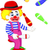 gelukkig · clown · spelen · saxofoon · illustratie · muziek - stockfoto © jawa123
