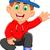 мало · мальчика · синий · жилет · шорты · иллюстрация - Сток-фото © jawa123