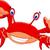 engraçado · caranguejo · desenho · animado · praia · oceano · vermelho - foto stock © jawa123