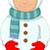 クリスマス · 雪だるま · アバター · 赤 · 笑みを浮かべて · 着用 - ストックフォト © jawa123