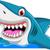 angry shark cartoon jumping stock photo © jawa123
