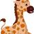 cute giraffe cartoon smiling stock photo © jawa123