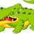 vicces · krokodil · rajz · pózol · jókedv · kövér - stock fotó © jawa123