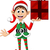 cute christmas elf holding a gift stock photo © jawa123