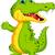смешные · крокодила · Cartoon · позируют · счастливым · зеленый - Сток-фото © jawa123