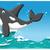 убийца · кит · открытых · изолированный · белый - Сток-фото © jawa123